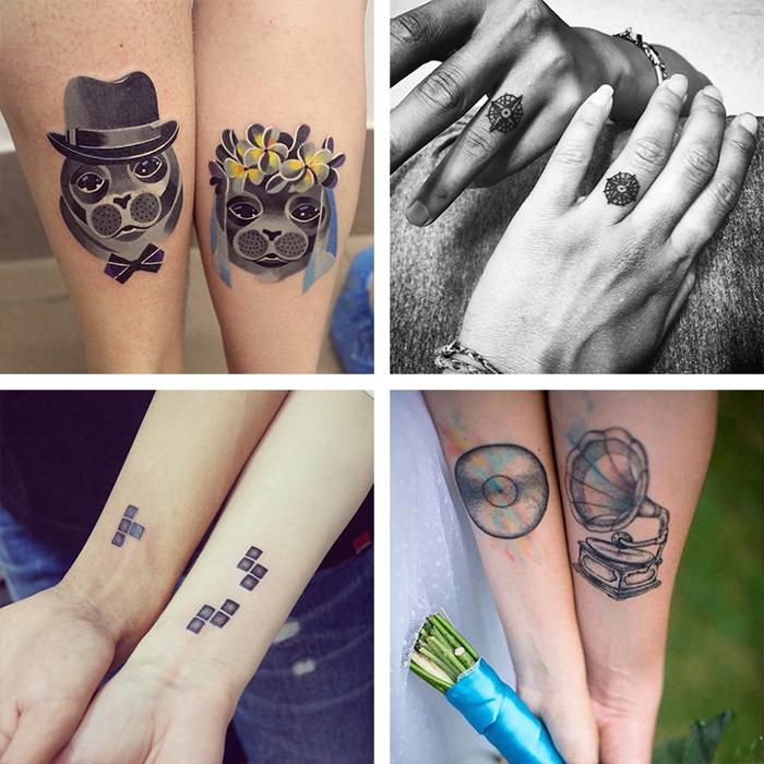 Matrimonio Tema Tatuaggi : Coppie mostrano i tatuaggi di nozze che onorano le loro