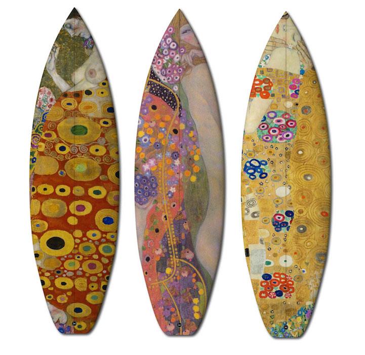 Bellissime tavole da surf e skateboard avvolti in famosi dipinti keblog - Tavola da surf a motore ...