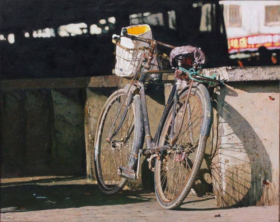 dipinti-iperrealisti-biciclette-pan-xun-1
