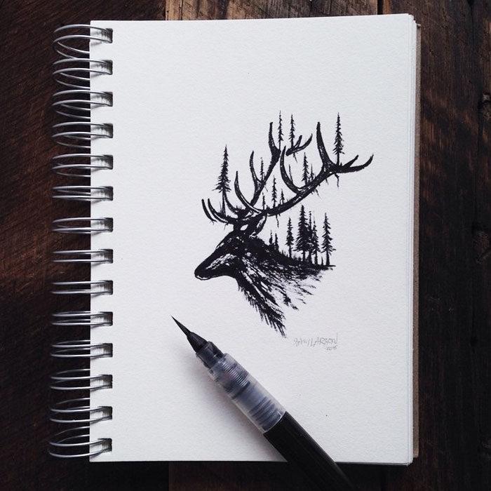 disegni-miniatura-inchiostro-animali-paesaggi-sam-larson-05