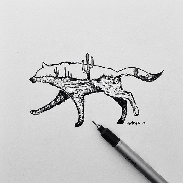 disegni-miniatura-inchiostro-animali-paesaggi-sam-larson-06
