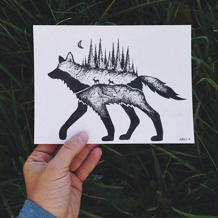 disegni-miniatura-inchiostro-animali-paesaggi-sam-larson-09