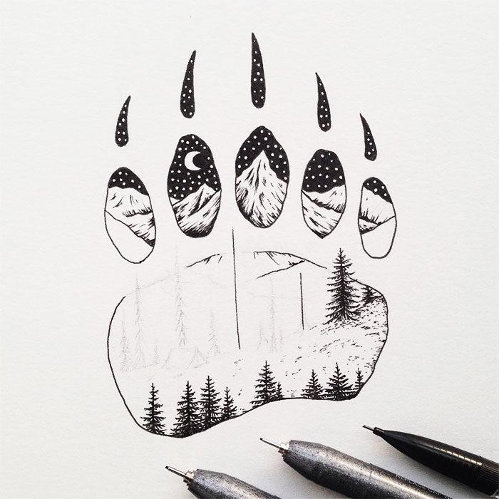 disegni-miniatura-inchiostro-animali-paesaggi-sam-larson-10