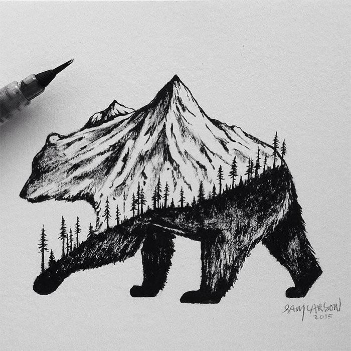 disegni-miniatura-inchiostro-animali-paesaggi-sam-larson-11