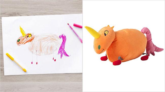 Ikea trasforma i disegni dei bambini in veri peluche per for Ikea articoli per bambini