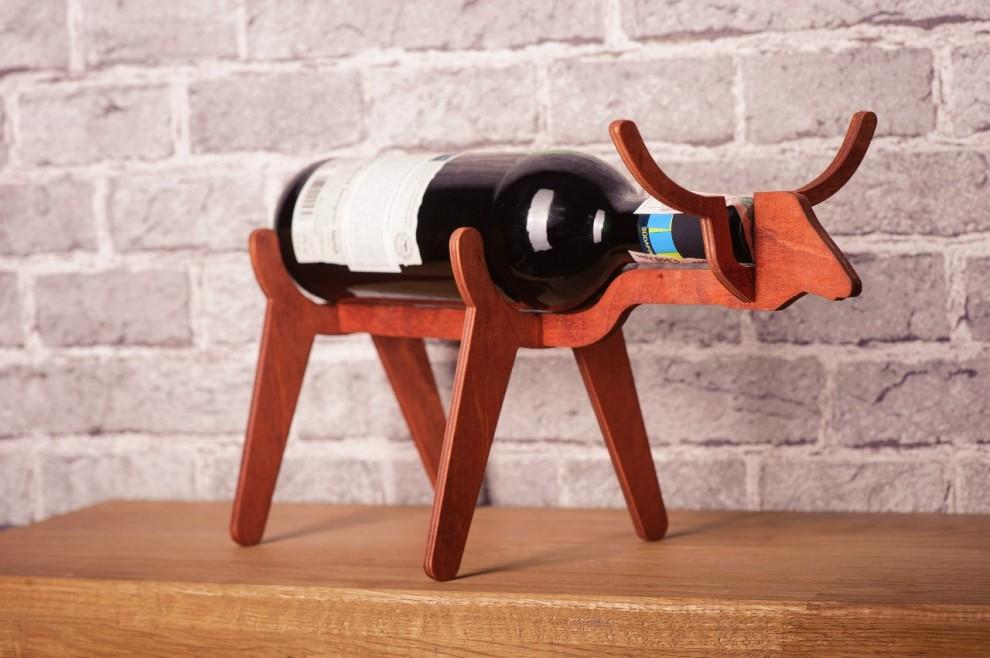Top I bellissimi porta bottiglie da vino a forma di animali di WoodKO  HB51