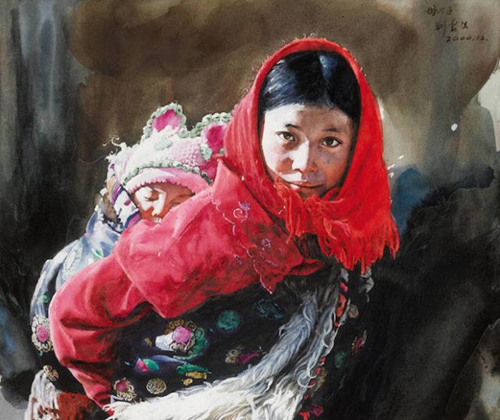 acquerelli-ritratti-tibet-liu-yungsheng-01
