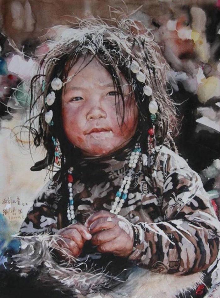 acquerelli-ritratti-tibet-liu-yungsheng-03