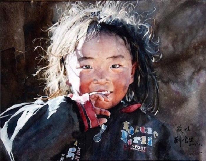 acquerelli-ritratti-tibet-liu-yungsheng-05