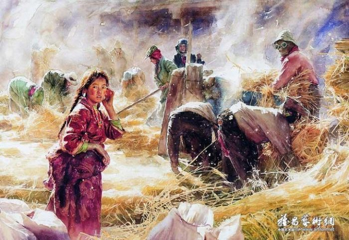 acquerelli-ritratti-tibet-liu-yungsheng-07