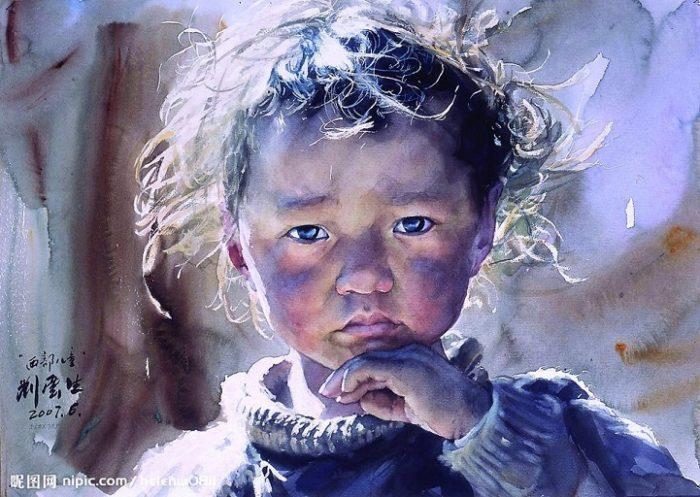 acquerelli-ritratti-tibet-liu-yungsheng-12