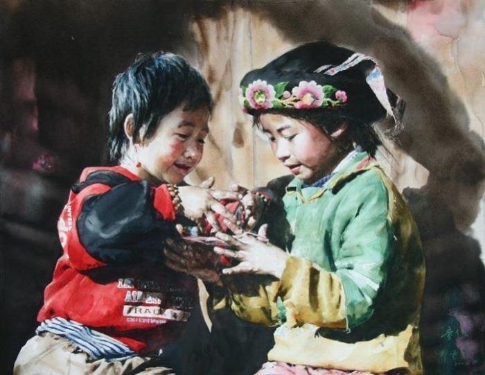 acquerelli-ritratti-tibet-liu-yungsheng-13