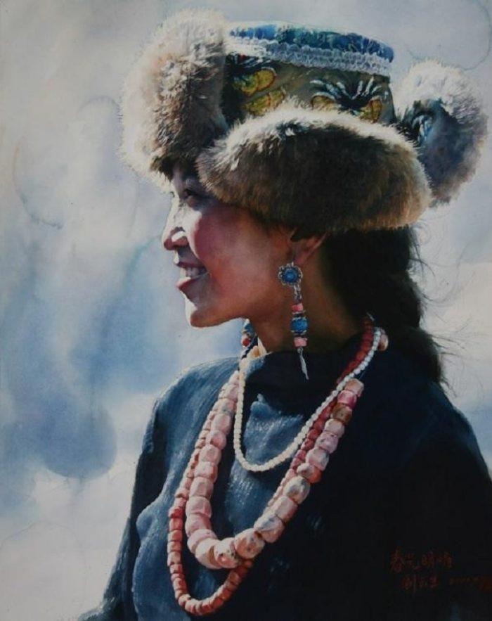 acquerelli-ritratti-tibet-liu-yungsheng-14
