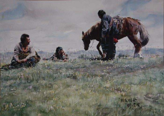 acquerelli-ritratti-tibet-liu-yungsheng-15