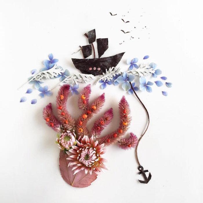 arte-composizioni-foglie-fiori-muschio-funghi-bridget-beth-collins-11