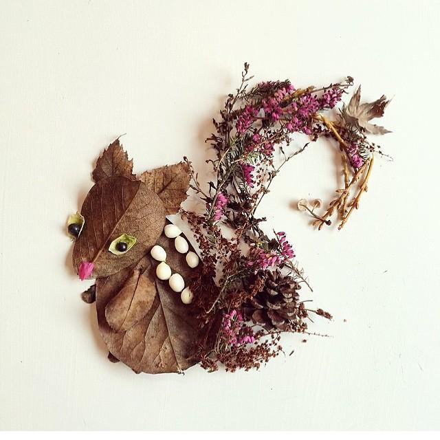 arte-composizioni-foglie-fiori-muschio-funghi-bridget-beth-collins-17