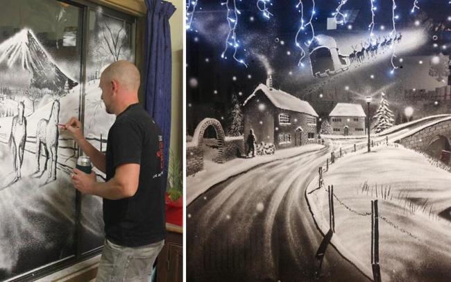 decorazioni-natale-neve-spray-ospedale-pediatrico-tom-baker-01