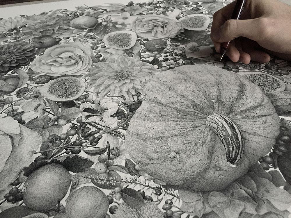 puntinismo-illustrazione-autumn-xavier-casalta-1