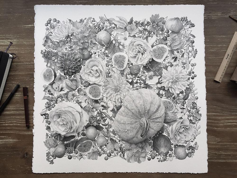 puntinismo-illustrazione-autumn-xavier-casalta-2