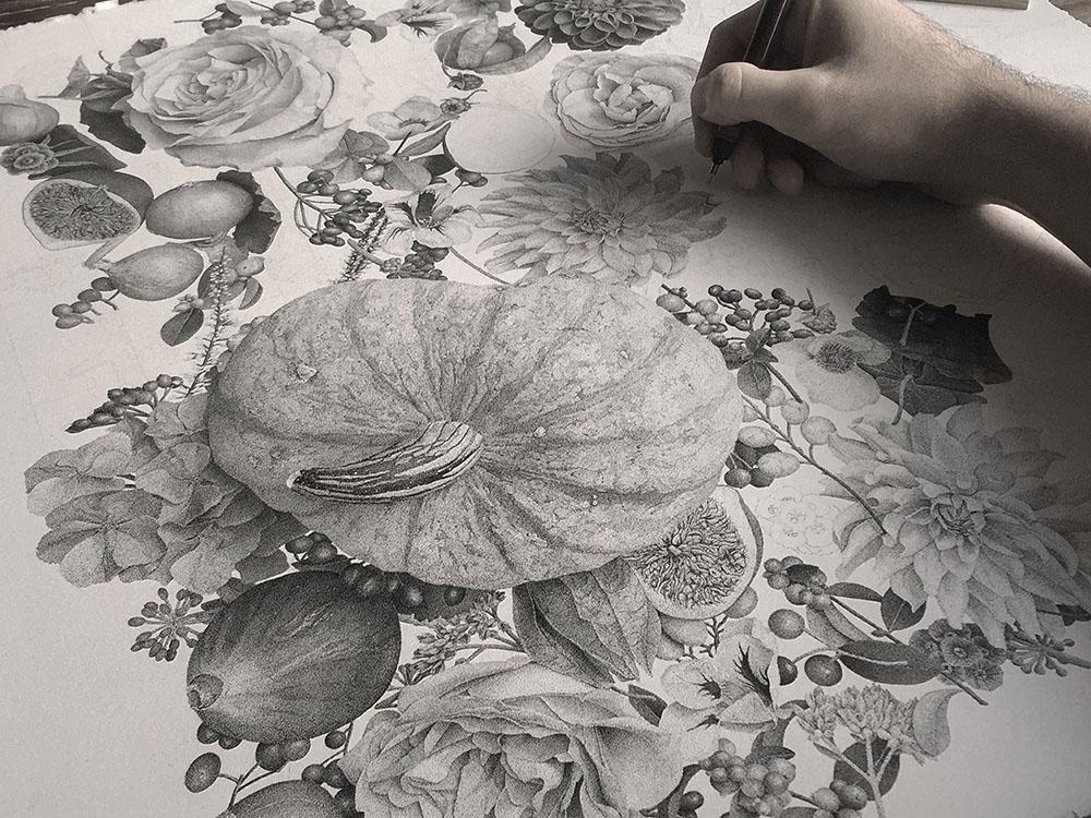 puntinismo-illustrazione-autumn-xavier-casalta-3