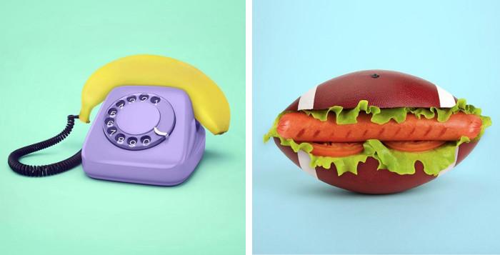 Colorate composizioni surreali di oggetti comuni di paolo for Immagini design