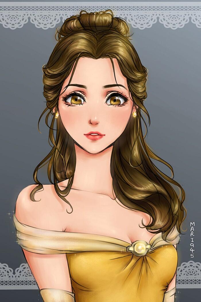 principesse-disney-anime-manga-maryam-belle