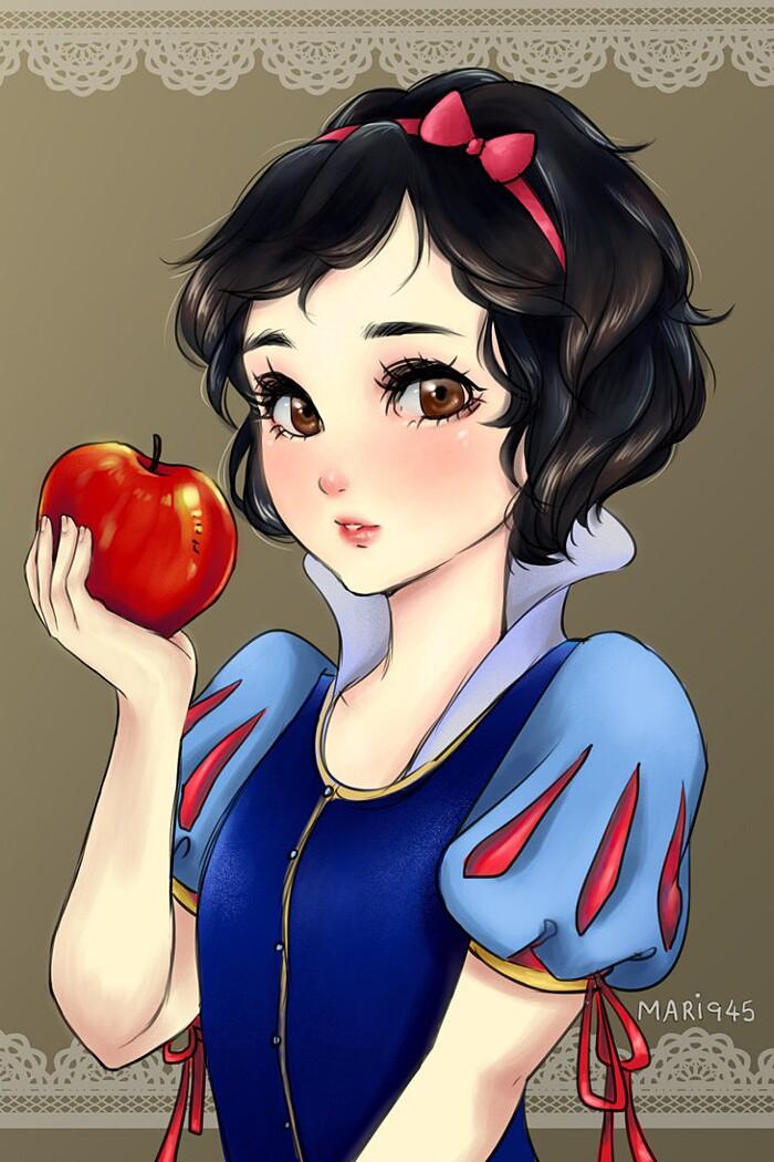 principesse-disney-anime-manga-maryam-biancaneve