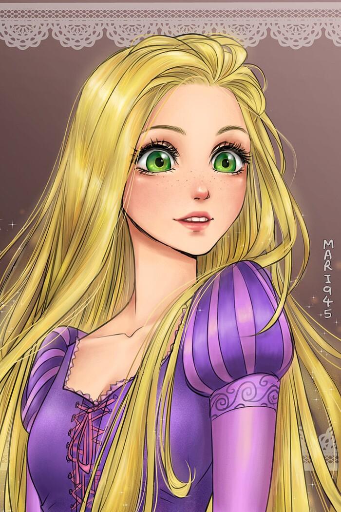 principesse-disney-anime-manga-maryam-rapunzel