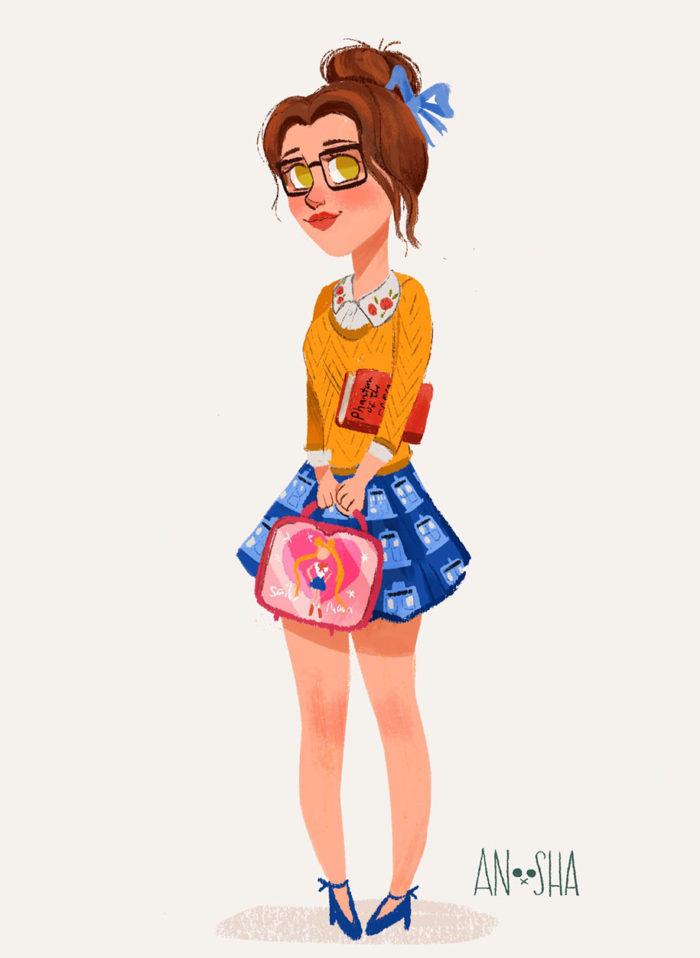 principesse-disney-ragazze-moderne-contemporanee-anoosha-syed-07