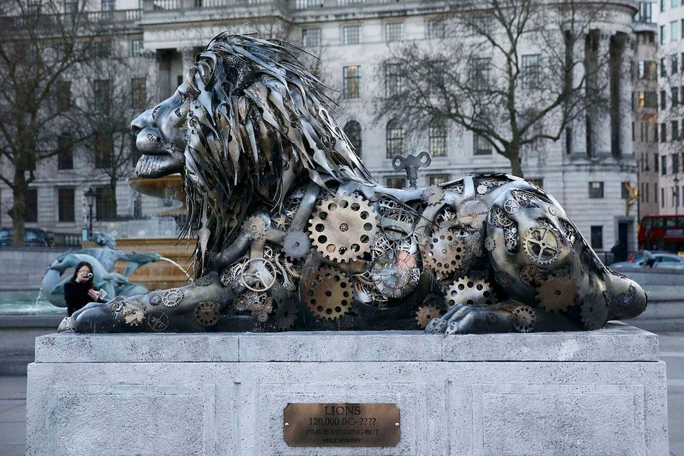 scultura-leone-national-geographic-trafalgar-square-londra-2