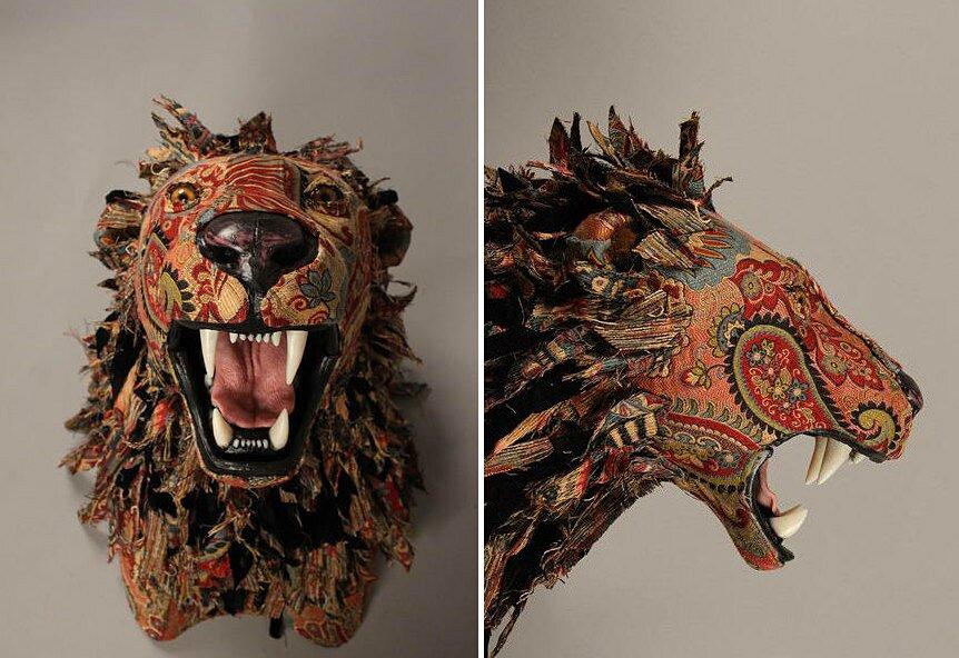 sculture-tassidermie-animali-teste-stoffe-tessuti-jelinek-7