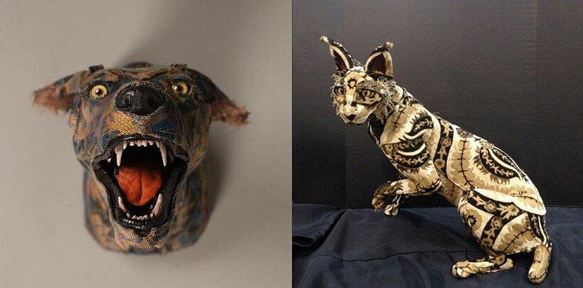 sculture-tassidermie-animali-teste-stoffe-tessuti-jelinek-9