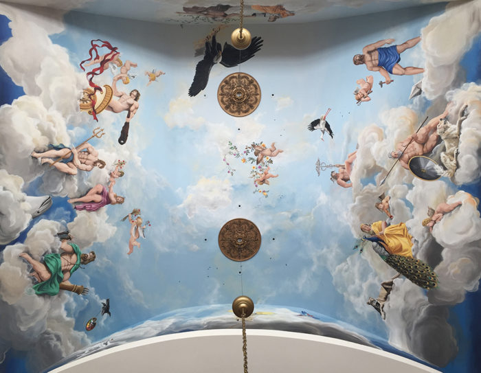 Diego Bormida Artist  Villa Bellissima UTAH Sandy Salt lake city Ceiling hercules soffitto masterpiece dipinto 000 rid