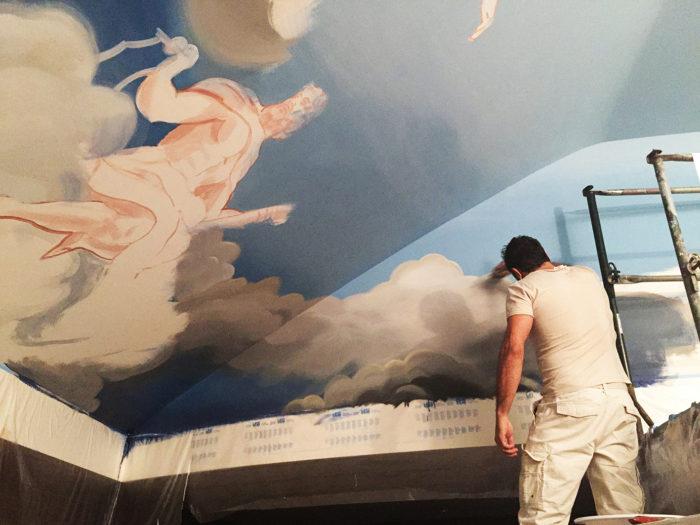 Diego Bormida Artist  Villa Bellissima UTAH Sandy Salt lake city Ceiling hercules soffitto masterpiece dipinto 001b