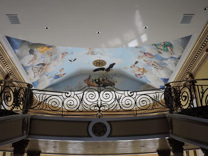 Diego Bormida Artist  Villa Bellissima UTAH Sandy Salt lake city Ceiling hercules soffitto masterpiece dipinto 021