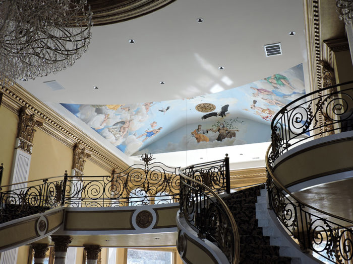 Diego Bormida Artist  Villa Bellissima UTAH Sandy Salt lake city Ceiling hercules soffitto masterpiece dipinto 022