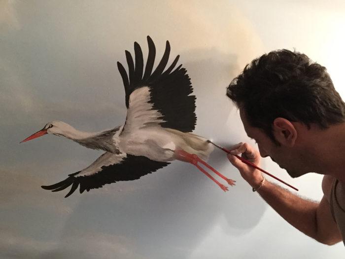 Diego Bormida Artist  Villa Bellissima UTAH Sandy Salt lake city Ceiling hercules soffitto masterpiece dipinto 022b