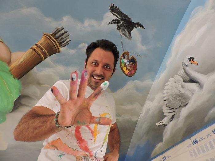 Diego Bormida Artist  Villa Bellissima UTAH Sandy Salt lake city Ceiling hercules soffitto masterpiece dipinto 03