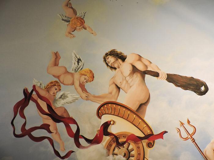 Diego Bormida Artist  Villa Bellissima UTAH Sandy Salt lake city Ceiling hercules soffitto masterpiece dipinto 05