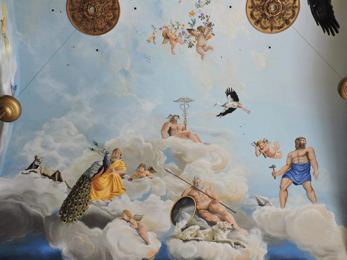 Diego Bormida Artist  Villa Bellissima UTAH Sandy Salt lake city Ceiling hercules soffitto masterpiece dipinto 06