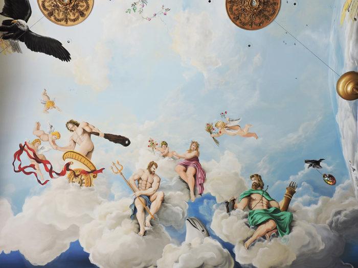 Diego Bormida Artist  Villa Bellissima UTAH Sandy Salt lake city Ceiling hercules soffitto masterpiece dipinto 07