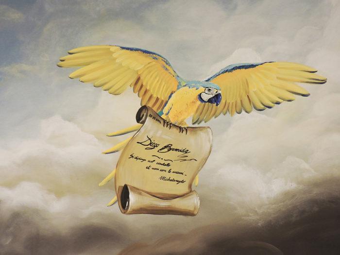 Diego Bormida Artist  Villa Bellissima UTAH Sandy Salt lake city Ceiling hercules soffitto masterpiece dipinto 08