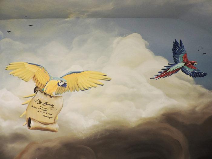 Diego Bormida Artist  Villa Bellissima UTAH Sandy Salt lake city Ceiling hercules soffitto masterpiece dipinto 09