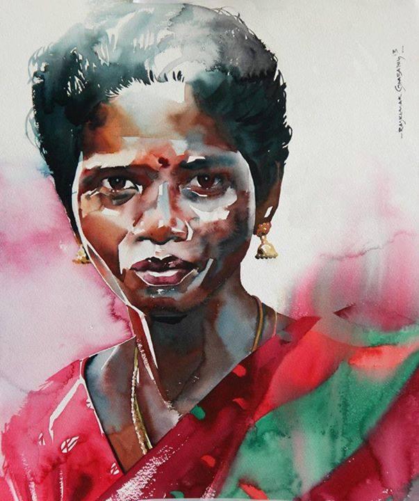 acquerelli-volti-india-rajkumar-sthabathy-02