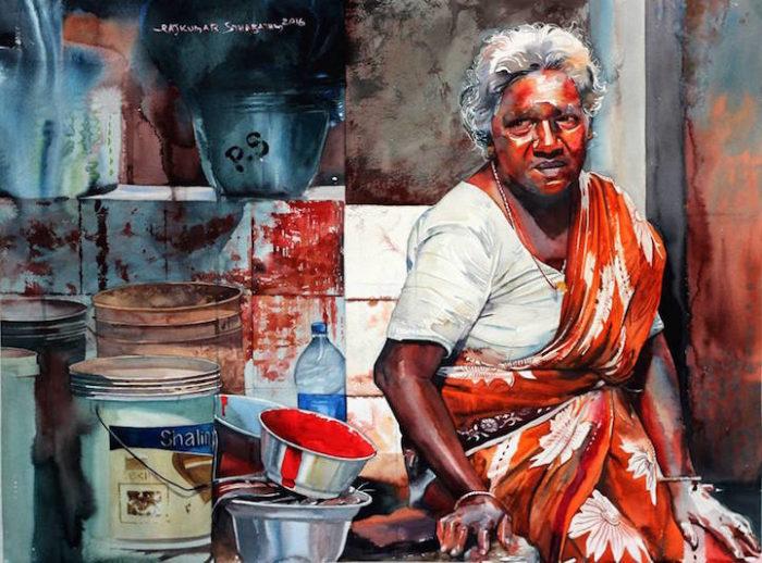 acquerelli-volti-india-rajkumar-sthabathy-11