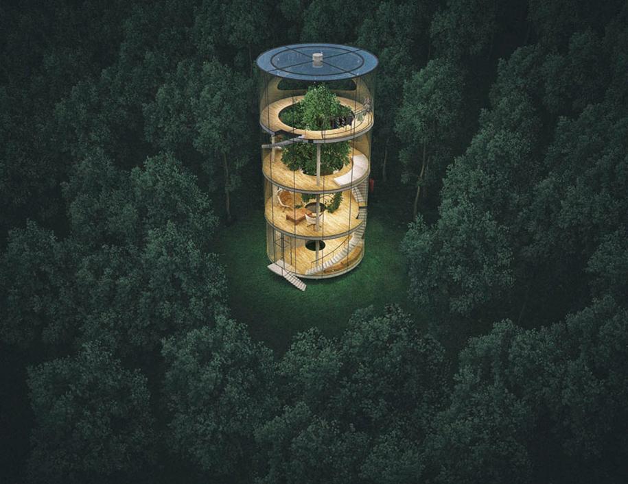 albero-in-casa-di-vetro-aibek-almassov-architettura-7