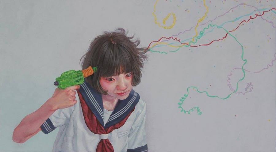 dipinti-perdita-innocenza-bambine-inquietanti-surreali-kazuhiro-hori-01