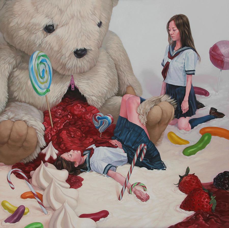 dipinti-perdita-innocenza-bambine-inquietanti-surreali-kazuhiro-hori-04