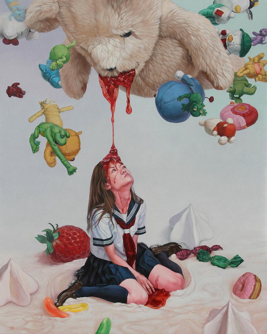 dipinti-perdita-innocenza-bambine-inquietanti-surreali-kazuhiro-hori-05