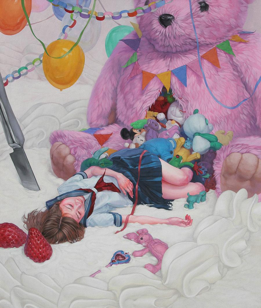 dipinti-perdita-innocenza-bambine-inquietanti-surreali-kazuhiro-hori-07